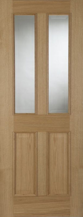 Mendes Oxford Glazed Oak Raised Moulding Fire Door
