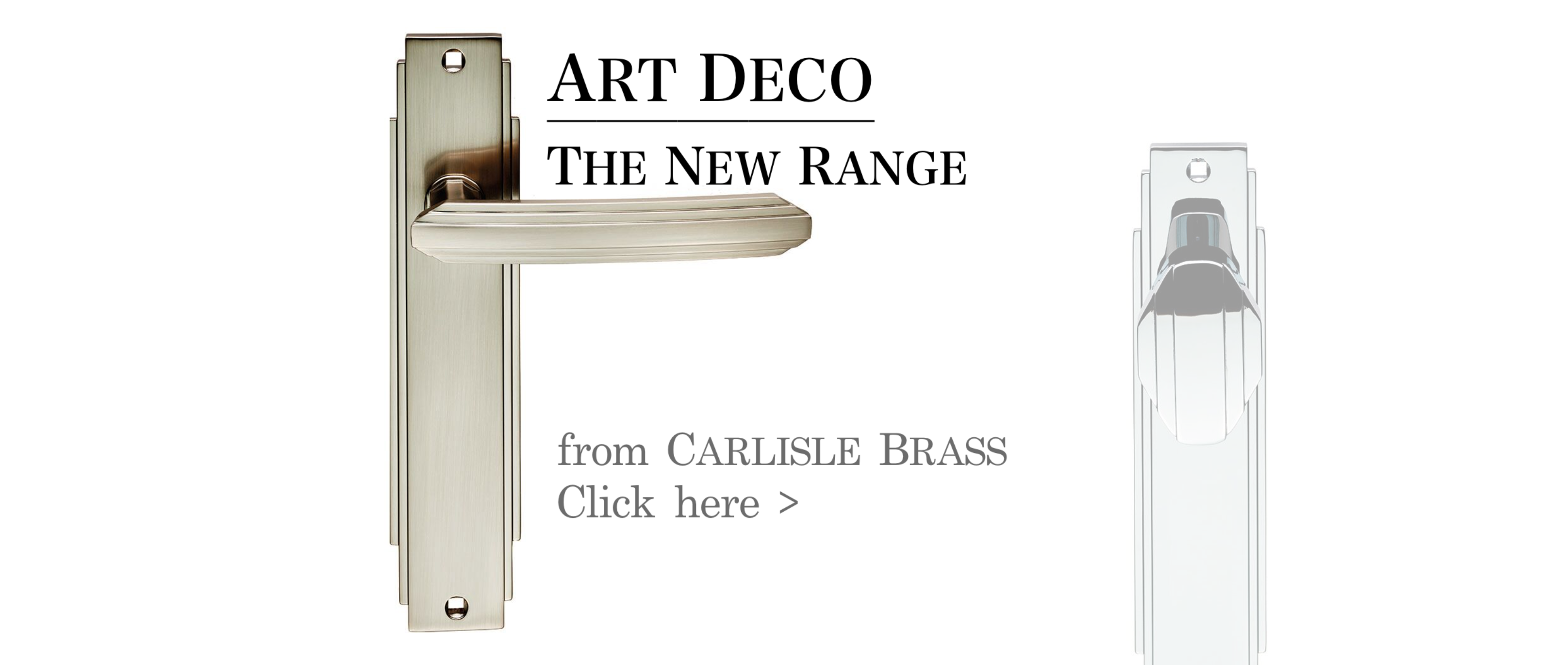 Art Deco Range Door Furniture from Carlisle Brass®