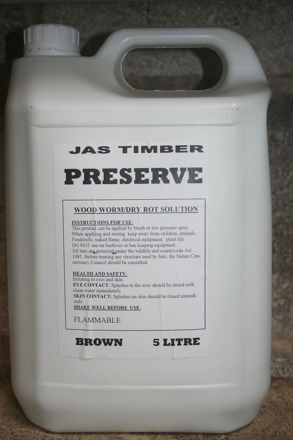 Woodworm and Dry Rot Fluid 5L Brown HAVERS