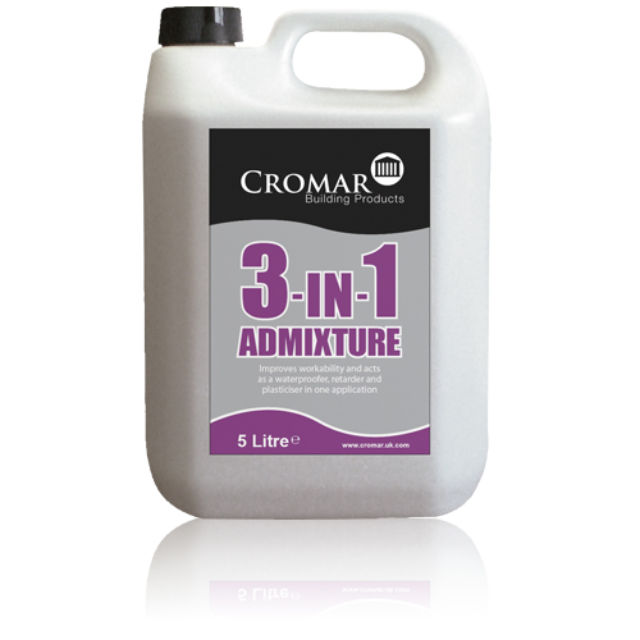 CROMAR - 3-in-1 Liquid Admixture for Mortar - 5 Litre