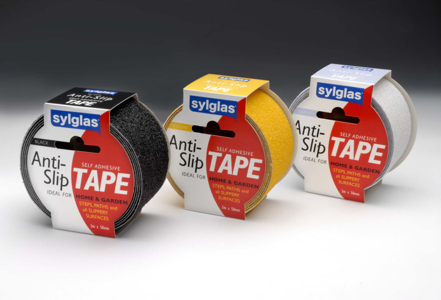 Sylglas® Anti-Slip Tapes - 3 colours: Black - Yellow - Clear