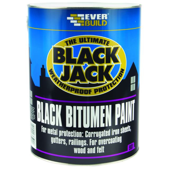 Everbuild 901 BLACK BITUMEN PAINT ( solvent-based ) - 5 litre