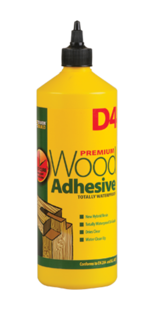D4 Hybrid Resin Wood Adhesive - Everbuild 1-Litre
