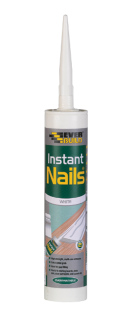 Panel Adhesive Instant-Nails - White : 290mL Everbuild