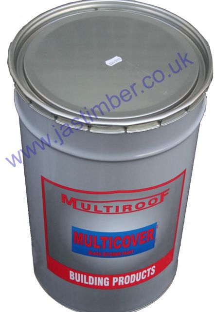 Black Bitumen Paint (solvent-based) - Everbuild 90... 25 Litre