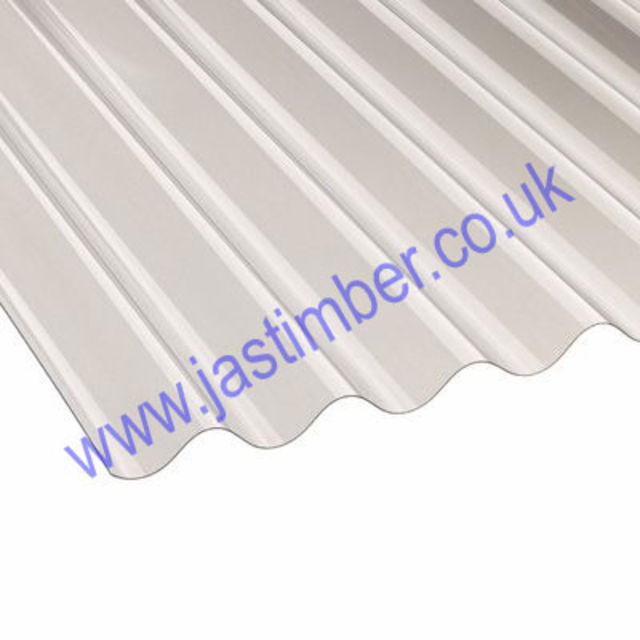 "PVC Clear Corrugated Roofing Sheet ASB 3"" 1.1mm Thick  Vistalux"