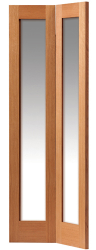 Fuji Glazed Bi-Fold Door: 2-light *Clear Glazed* *Oak* 35mm Internal Bi-Folding Door - JB Kind Oak Shaker Doors