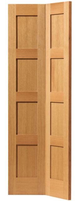 Snowdon Bi-Fold Door: 8-Panel *Oak* 35mm Internal Bi-Folding Door - JB Kind Oak Shaker Doors