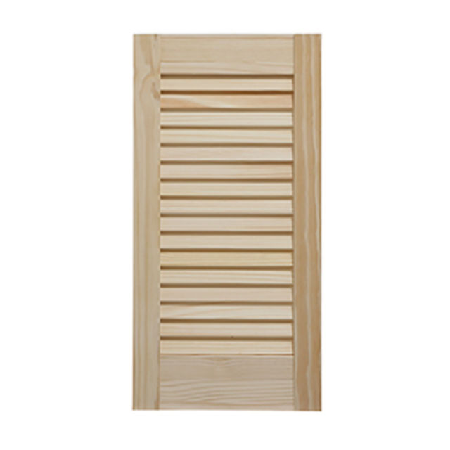 "24"" High Internal Louvre Doors - 28mm Clear Pine - Cheshire Mouldings"