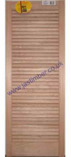 LOUVRE DOORS - CLEARANCE - Cream Hardwood - Height x Width - 28mm thick