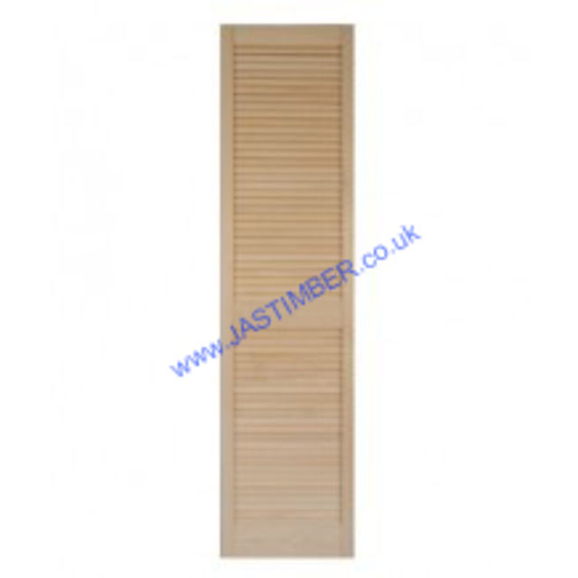 "Louvre Doors - 60"" High Internal - 29mm Clear Pine - Open Louvre with Centre Rail - Richard Burbidge"