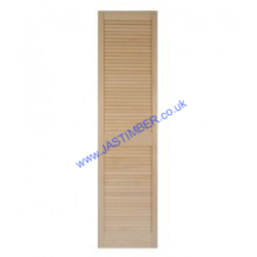Burbidge Pine Louvre Door with Centre Rail