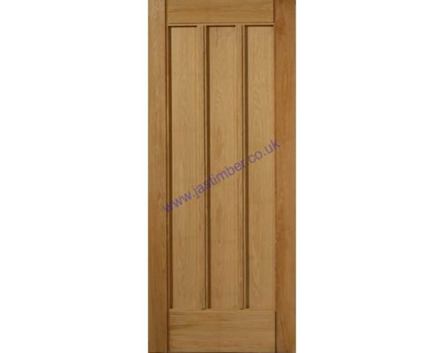 ULLSWATER DOOR: 3-Panel *OAK* 44mm M&T External Door - JB Kind Doors