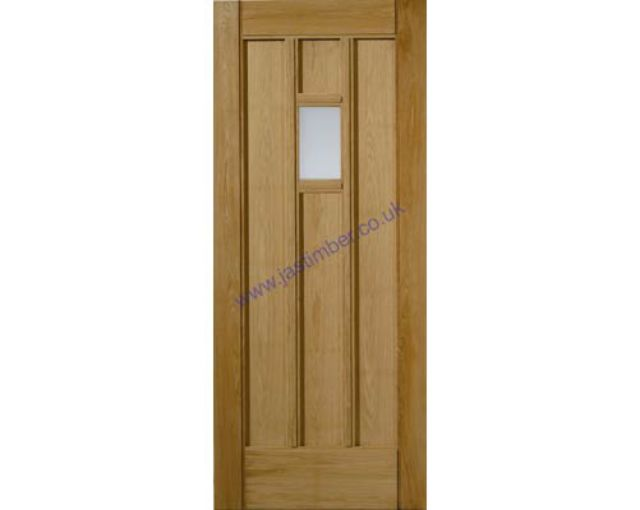 WINDERMERE Glazed DOOR: 1-light *Obscure Glass* *OAK* 44mm M&T Door - JB Kind Doors