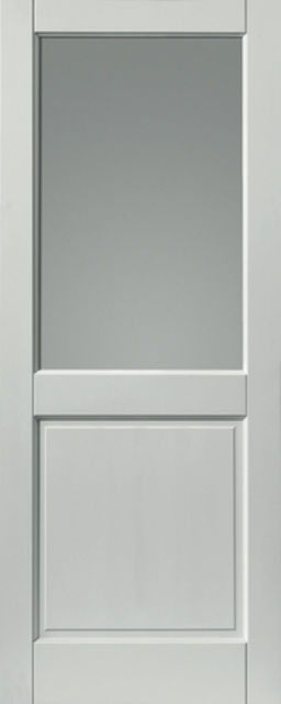 2XG Glazed Extreme Door: 1-light *Glazed* *Pre-Finished White* 44mm External Extreme Door - JB Kind External Extreme Doors
