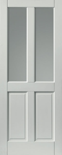 Colonial Glazed Extreme Door: 2-light *Glazed* *Pre-Finished White* 44mm External Extreme Door - JB Kind External Extreme Doors