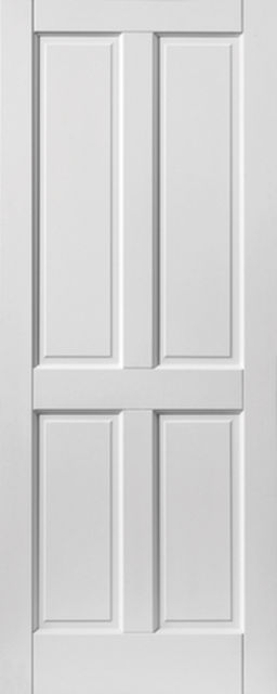 Colonial Extreme Door: 4-Panel *Pre-Finished White* 44mm External Extreme Door - JB Kind External Extreme Doors