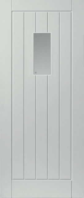 Thames Glazed Extreme Door: 1-light *Glazed* *Pre-Finished White* 44mm External Extreme Door - JB Kind External Extreme Doors