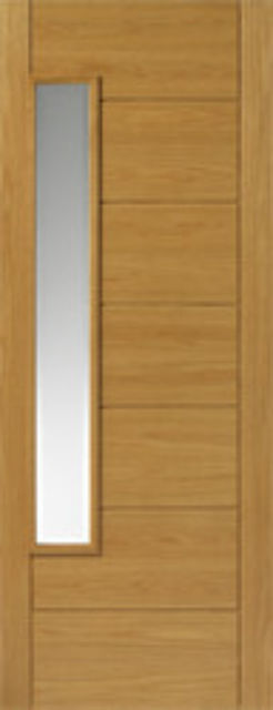 ALSACE Glazed DOOR: 1-light *CBG* Therm-L *OAK* 44mm Modern Doors - JBK