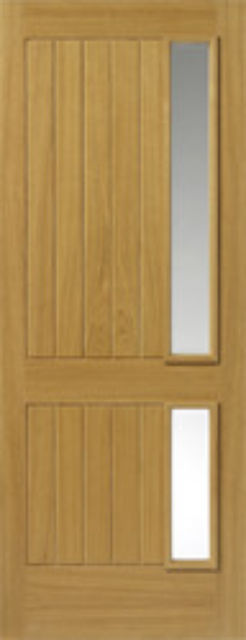 LOIRE Glazed DOOR: 2-light *CBG* Therm-L *OAK* 44mm External Doors - JB Kind Doors