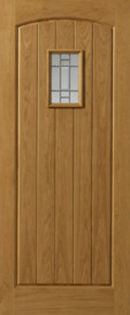 MOSEL Glazed DOOR: 1-light *Glazed* Therm-L *OAK* 44mm External Doors - JB Kind Doors