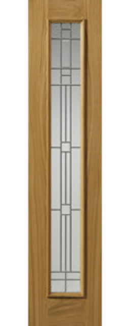 PIEDMONT SIDELIGHT 1-light *Glazed* Therm-L *OAK* 44mm External Sidelight - JB Kind Doors