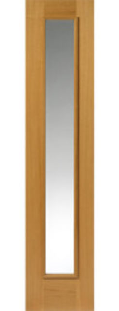RHONE SIDELIGHT: 1-light *CBG* Therm-L *OAK* 44mm External Sidelight - JB Kind Doors