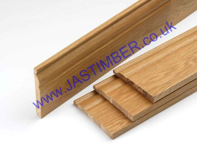 Oak Skirting Board Packs - Choose Natural Oak OSK144 or PF Oak OSK144V - JB Kind
