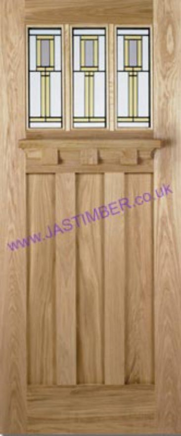 Tuscany Florence 3-light Glazed Oak External Door