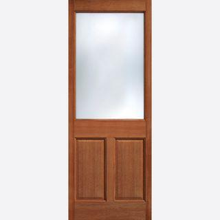 new style f2865 a2baa 2XG Glazed Door: 1-light *Frosted Double Glazed* [Hardwood] Dowel 44mm  External Door - LPD Doors