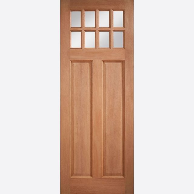 "Chigwell Glazed Door: 8-Light *Clear Double Glazed* [Hardwood] M&T 1.75"" External Door - LPD Essentials Hardwood External Doors"