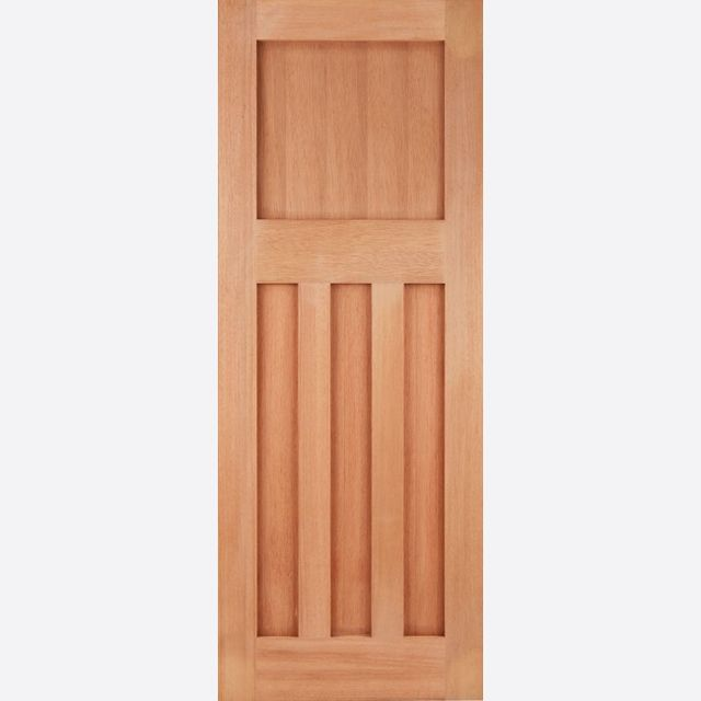 "DX Door: Flat 4-Panel [Hardwood] M&T 1.75"" External Door - LPD Essentials Hardwood External Doors"