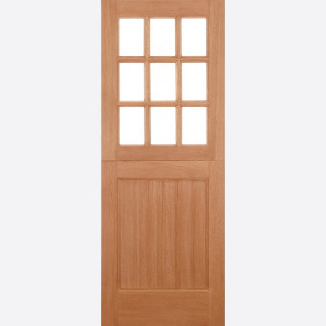 Half-Bow Hardwood Door - TO CLEAR