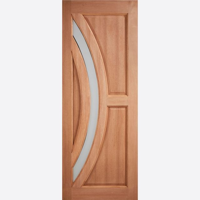 "Harrow Glazed Door: 1-Light *Frosted Double Glazed* [Hardwood] M&T 1.75"" External Door - LPD Essentials Hardwood External Doors"