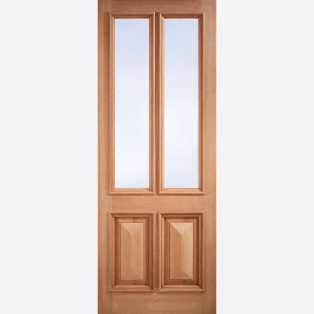 "Islington Unglazed Door: 2-Light *Unglazed* [Hardwood] M&T 1.75"" External Door - LPD Essentials Hardwood External Doors"