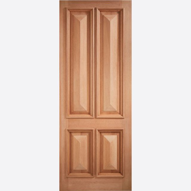 "Islington Door: 4-Panel +RM1S+ [Hardwood] M&T 1.75"" External Door - LPD Essentials Hardwood External Doors"