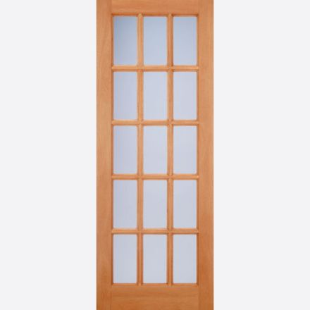 quality design cad44 2f0d5 SA Glazed Door: 15-light *Frosted Double Glazed* [Hardwood] M&T 44mm  External Door - LPD Doors