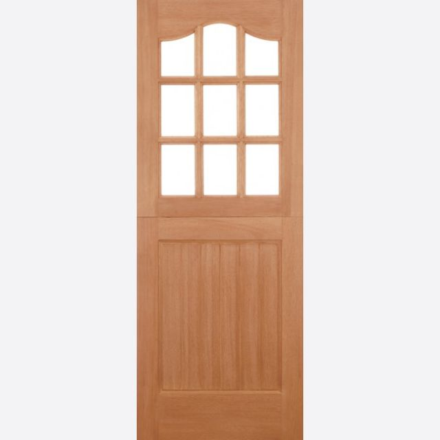 "Stable 9L Unglazed Door: 9-light *Unglazed* [Hardwood] M&T 1.75"" External Door - LPD Essentials Hardwood External Doors"