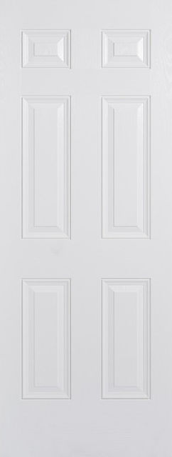 Colonial Door: 6-Panel *White GRP* 44mm External Door - LPD GRP External Doors