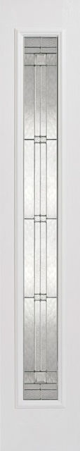 Elegant Glazed Sidelight: 1-Light *Leaded Double Glazed* +RM2S+ *White GRP* 44mm External Sidelight - LPD GRP External Doors