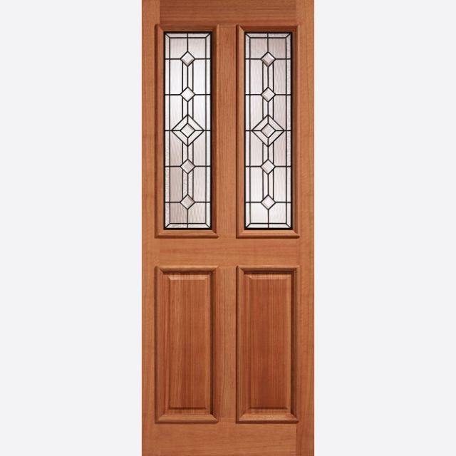 "Derby Leaded Glazed Door: 2-light *Leaded Double Glazed* [Hardwood] M&T 1.75""  External - LPD Hardwood External Doors"