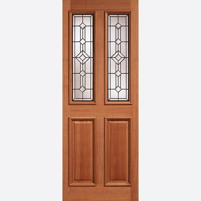 brand new a6178 46e06 Derby Leaded Glazed Door: 2-light *Leaded Double Glazed* [Hardwood] M&T  1.75