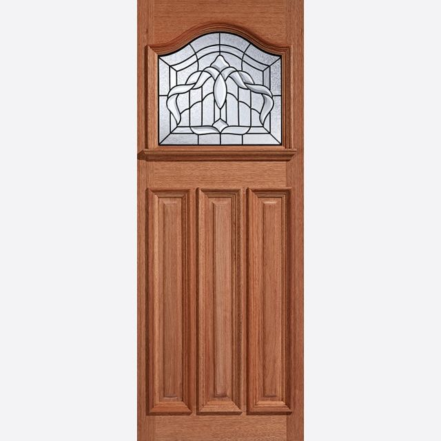 "Estate Crown Glazed Door: 1-light *Lead Double Glazed* [Hardwood] M&T 1.75"" External Door - LPD Hardwood External Doors"