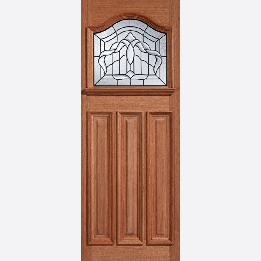 Estate Crown Glazed Hardwood External Door