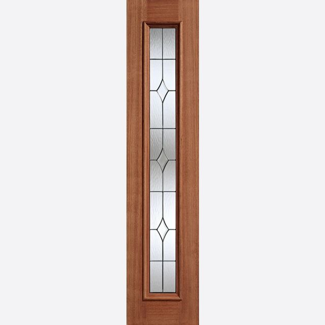 Universal Glazed Sidelight: 1-light *Lead Double Glazed* Hardwood 44mm Dowel External Sidelight - LPD Hardwood External Doors