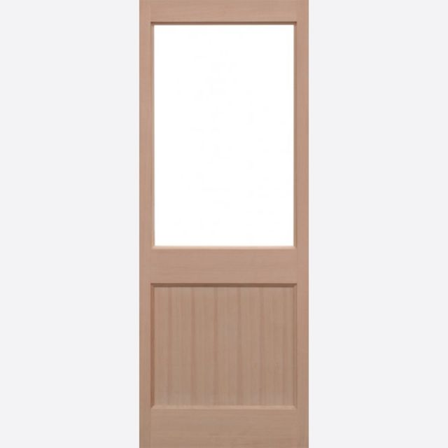 2XG Unglazed Door: 1-light *Unglazed* Hemlock Dowel 44mm External Door - LPD Trade Doors