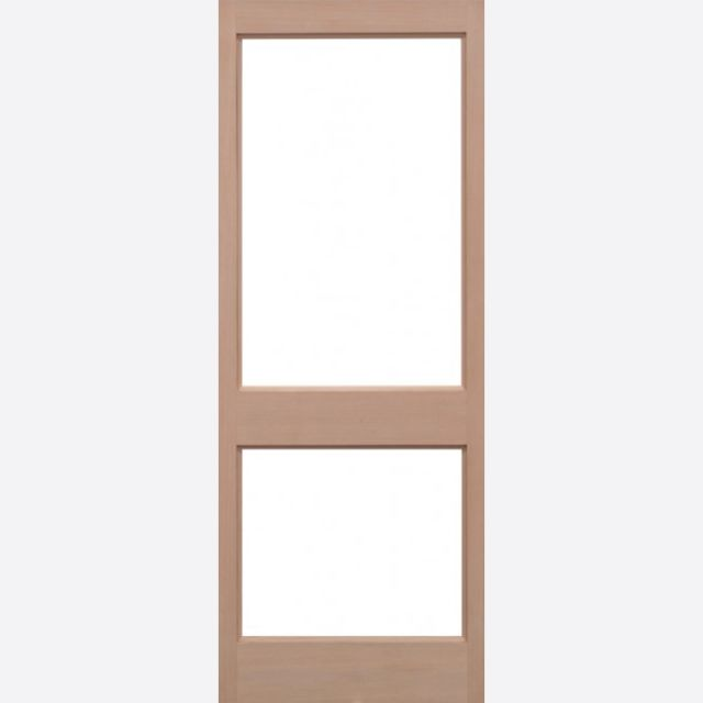 2XGG Unglazed Door: 2-light *Unglazed* Hemlock Dowel 44mm External Door - LPD Trade Doors