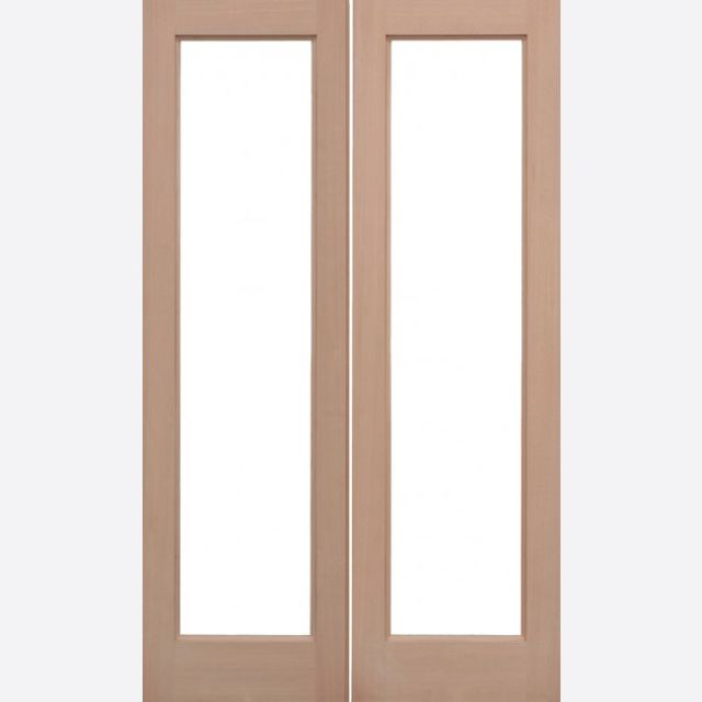 Pattern 20 Unglazed Pair Door: 2-light *Unglazed* Hemlock Dowel 40mm External Pair Door - LPD Trade Doors