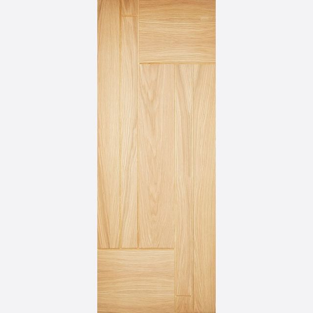 Fernando Door: *Unfinished Oak* 44mm Dowel Warmer Part-L External Door - LPD Oak External Doors