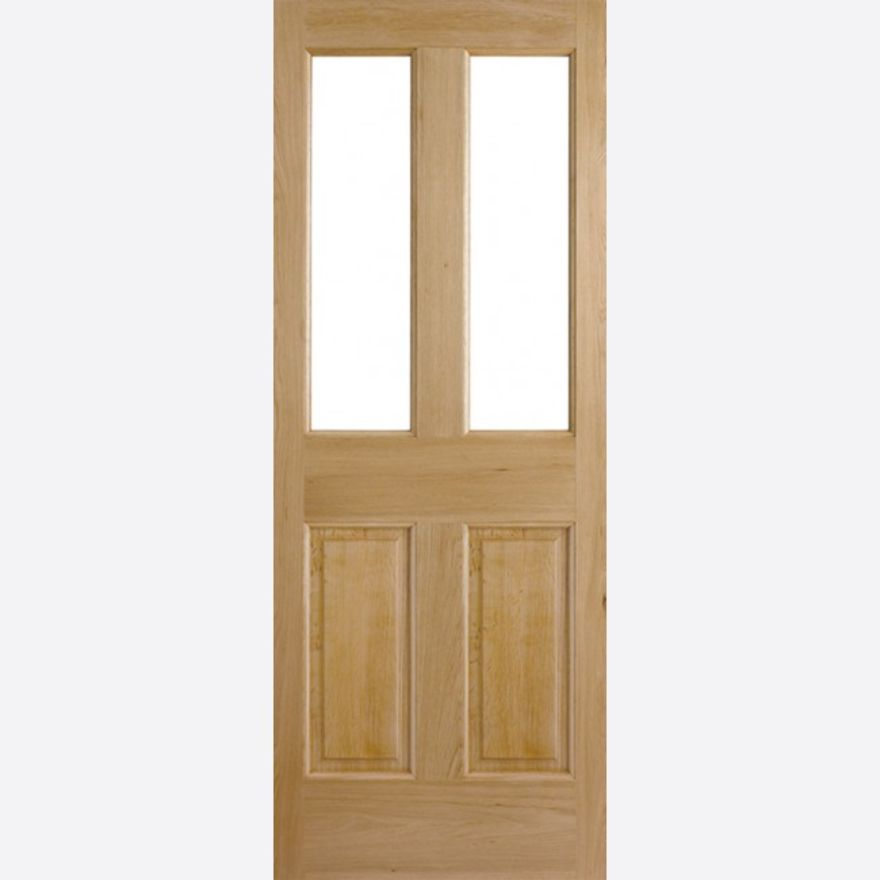 Malton 2L Unglazed Door - 2-Light (To Glaze) Oak Dowel External - LPD Doors